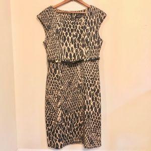 Connected Reptile Print Sheath Dress